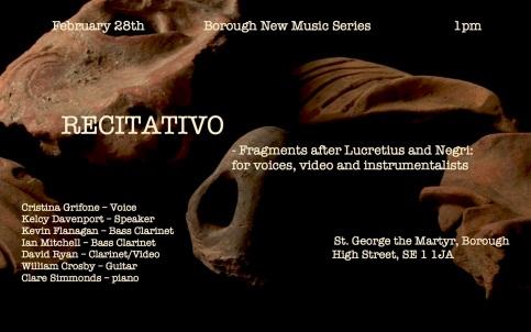 Recitativo, London copy