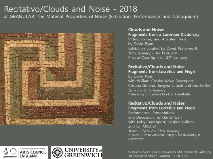 Clouds and Noise 2018 at GRANULAR