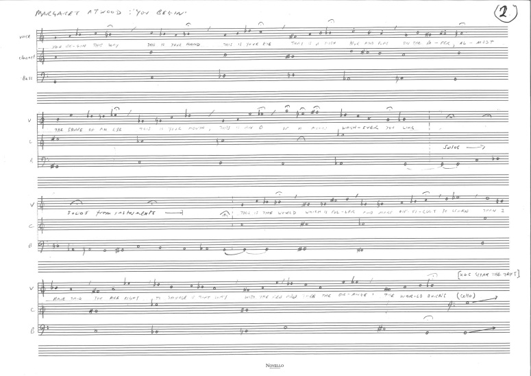 Aphorisms p 2 - Full score